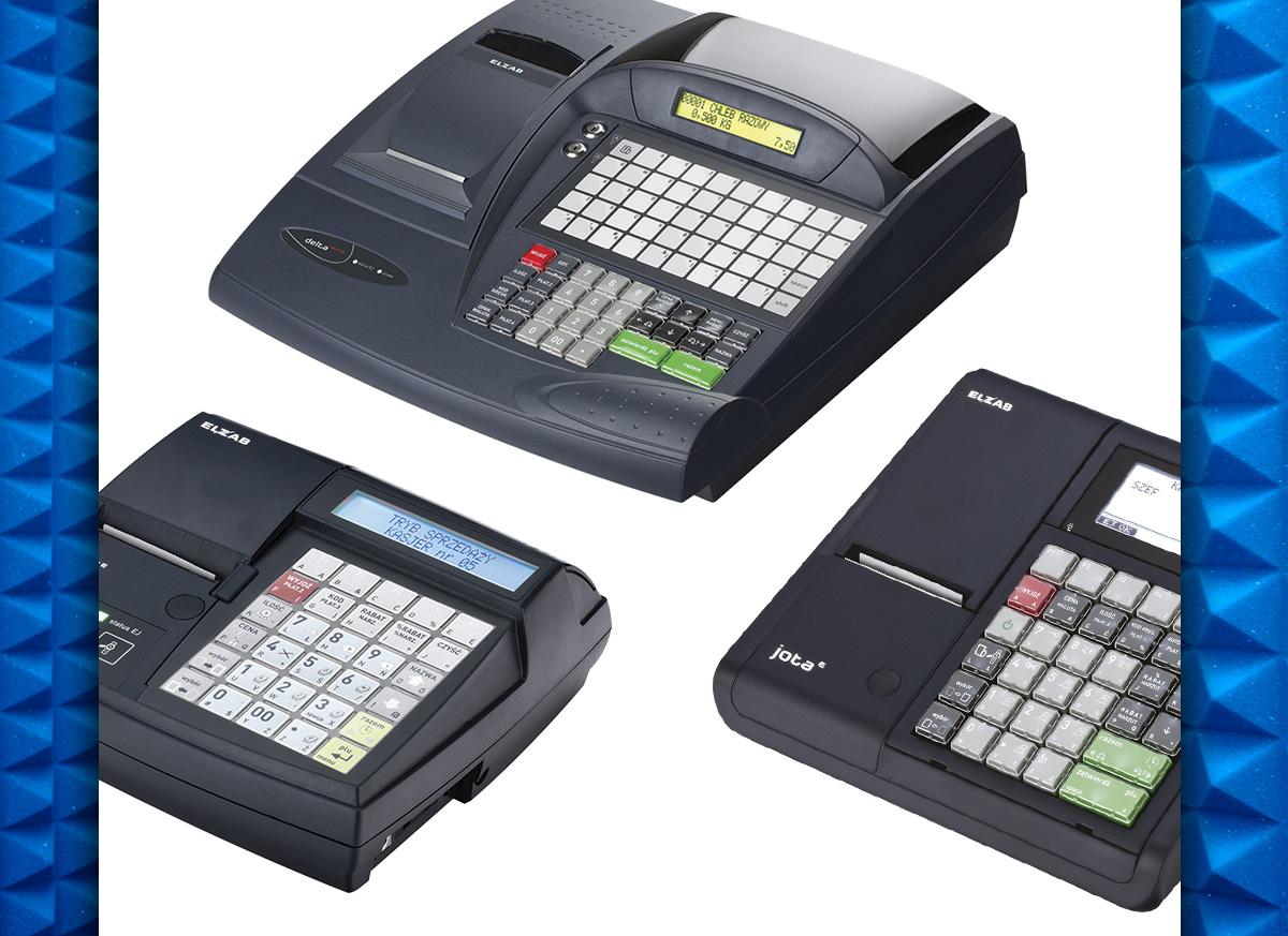 Kasy fiskalne Elzab Alfa Max E, Elzab Mini E i Elzab Jota E